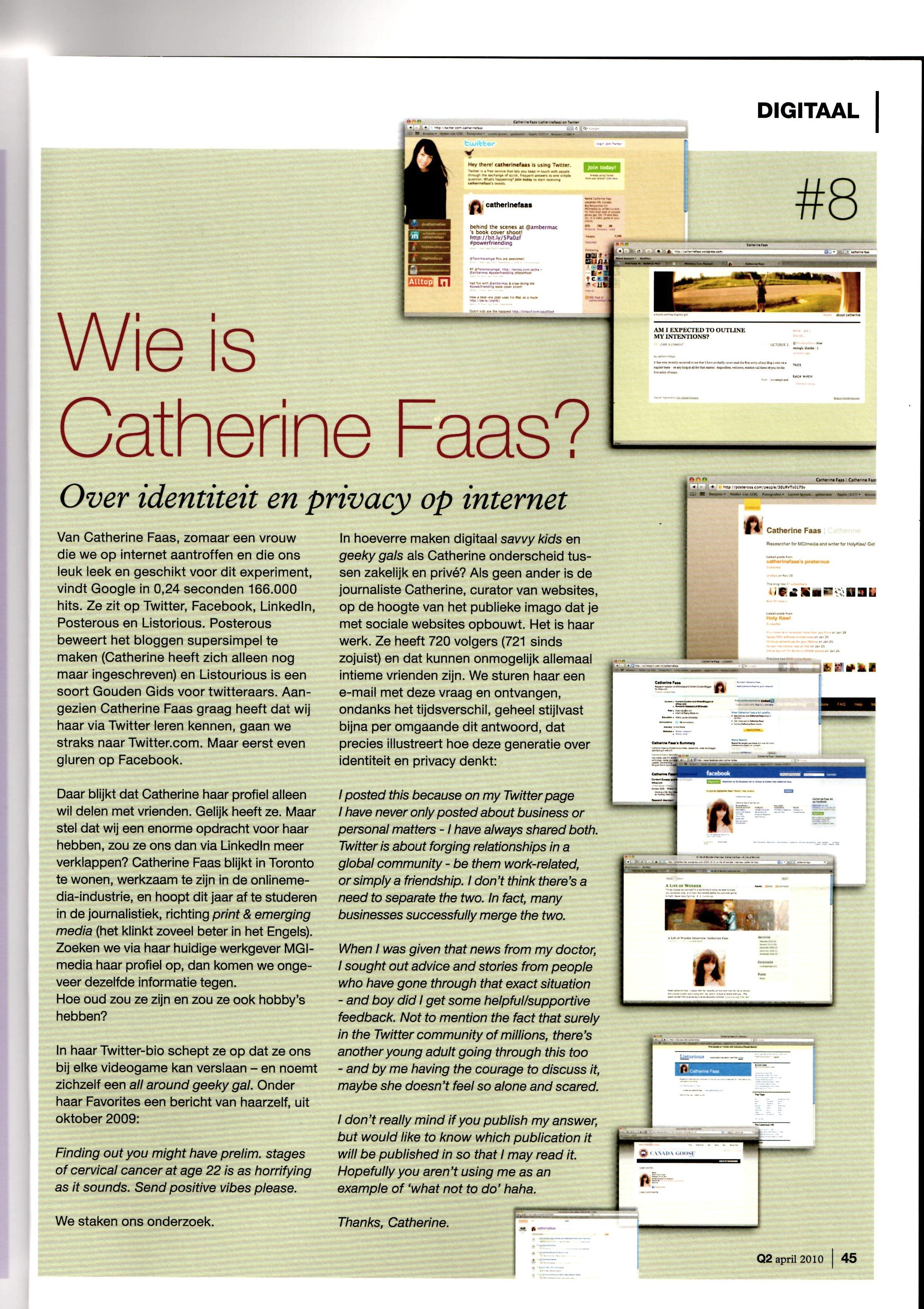 Onderzoekje naar privacy op internet (voor Delta Lloyd)